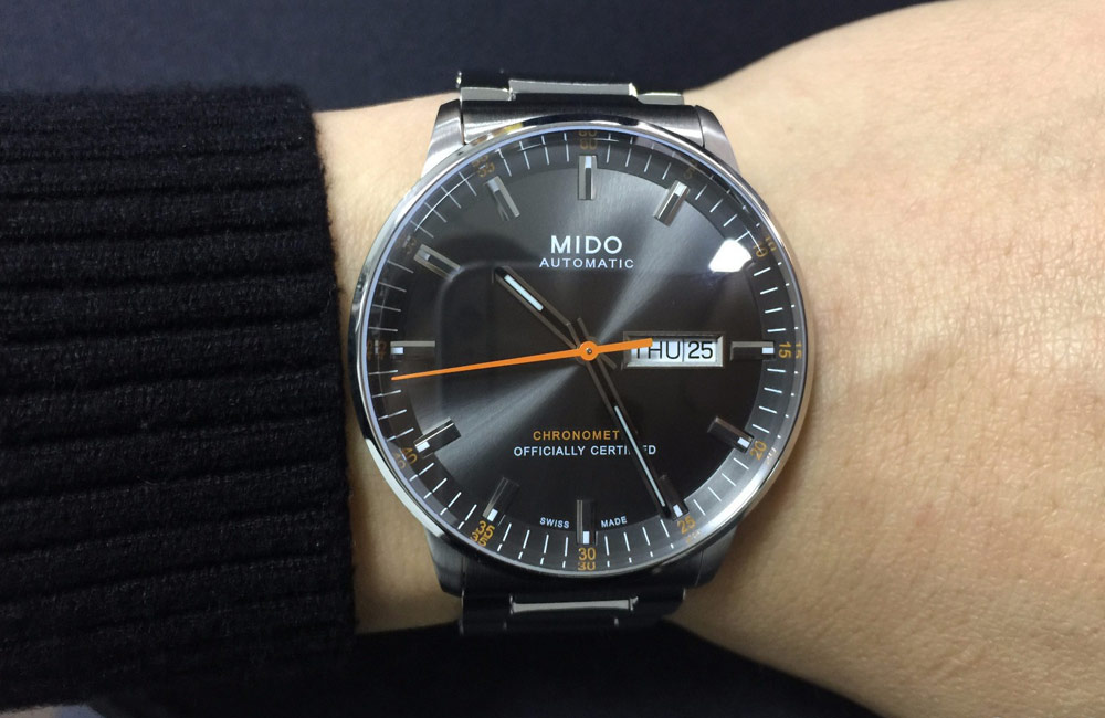 Mido M021.431.11.061.01 Commander II Chronometer Automatic Grey Dial Stainless Steel Strap Machtwatch