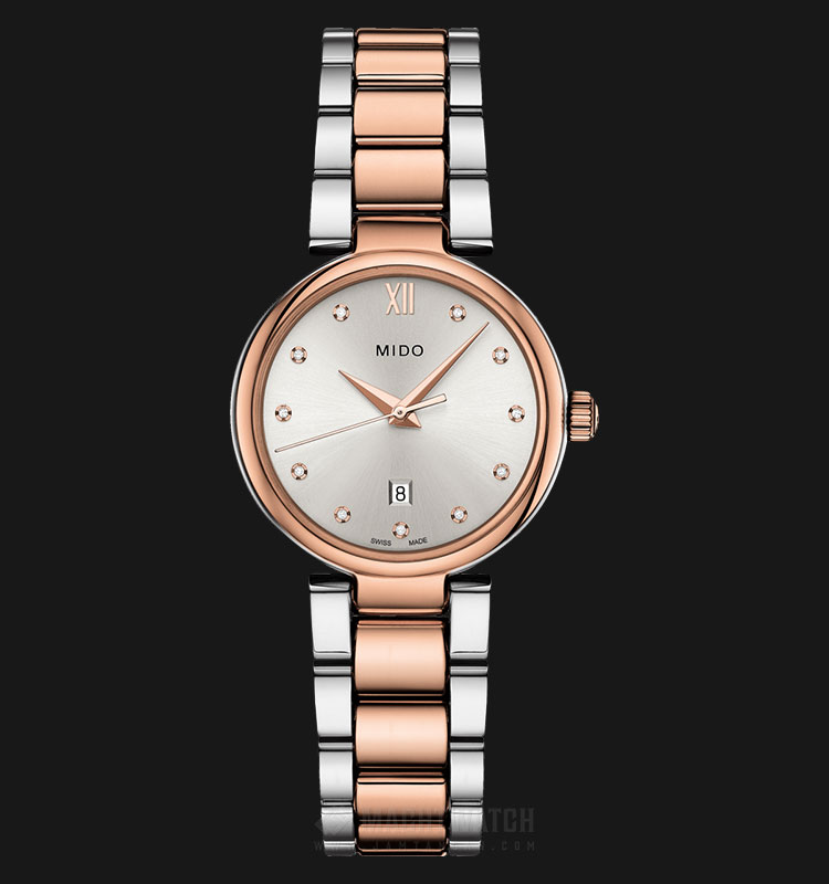 Mido M022.210.22.036.00 Baroncelli Donna Silver Dial Dual Tone Stainless Steel Strap Machtwatch