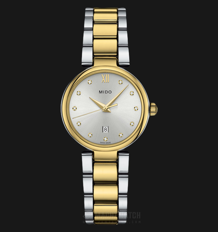 Mido M022.210.22.036.09 Baroncelli Donna Silver Dial Dual Tone Stainless Steel Strap Machtwatch