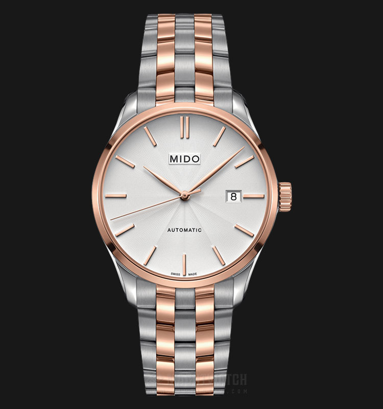 Mido M024.407.22.031.00 Belluna II Automatic Silver Dial Dual Tone Stainless Steel Strap Machtwatch