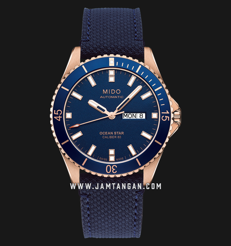 Mido M026.430.36.041.00 Ocean Star Automatic Men Blue Dial Blue Leather Strap Machtwatch