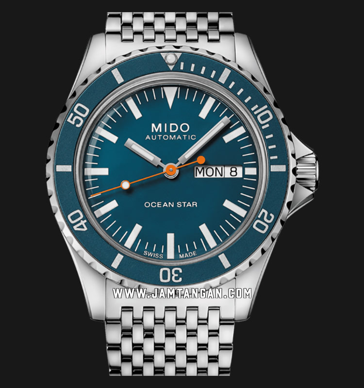 Mido M026.830.11.041.00 Ocean Star Tribute 75th Anniversary Blue Dial St. Steel Special Edition Machtwatch