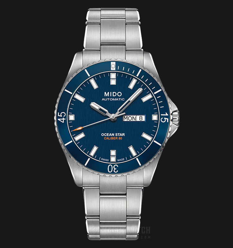 Mido M026.430.11.041.00 Ocean Star Caliber 80 Automatic Blue Dial Stainless Steel Strap Machtwatch
