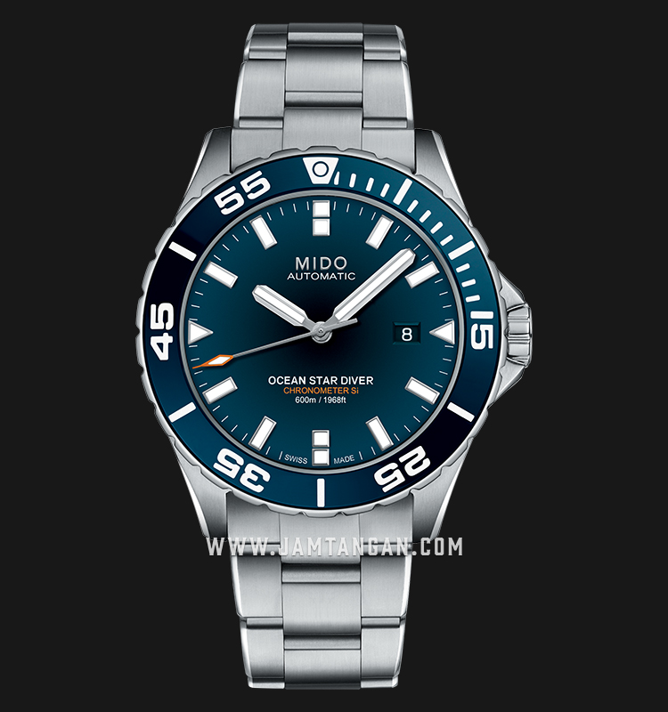 Mido M026.608.11.041.00 Ocean Star Diver 600 Chronometer Automatic Blue Dial Stainless Steel Strap Machtwatch