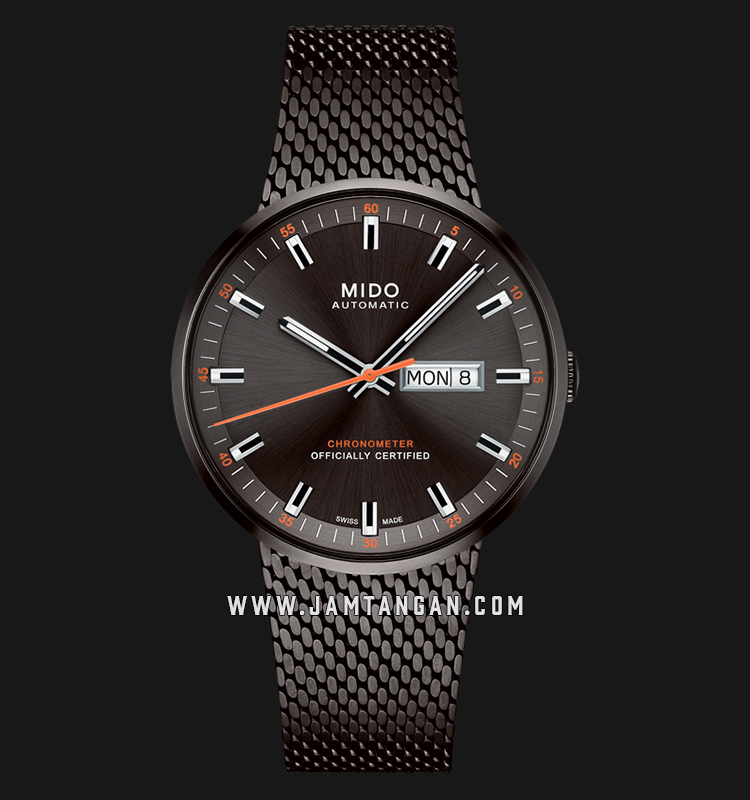 Mido M031.631.33.061.00 Commander Icone Black Dial Black Mesh Strap Machtwatch