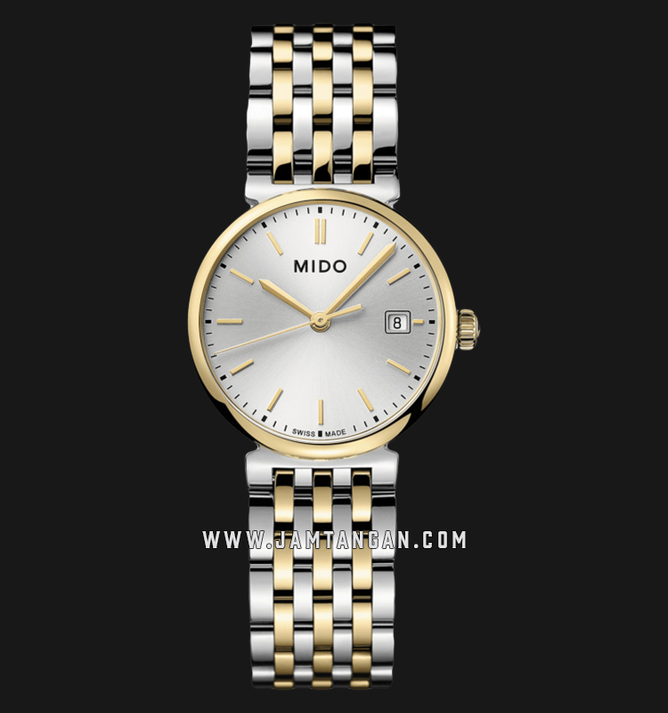 Mido M033.210.22.031.00 Dorada Silver Dial Dual Tone Stainless Steel Strap Machtwatch