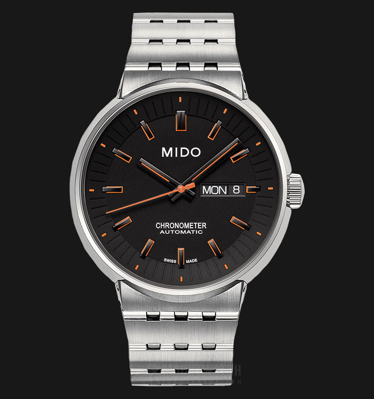 Mido M8340.4.18.19 All Dial Automatic Chronometer Black Dial Stainless Steel Strap Machtwatch