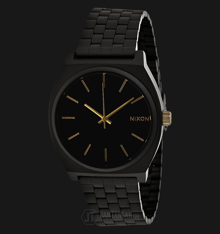 NIXON A0451041 Time Teller Black Dial Black Stainless Steel Strap Watch Machtwatch