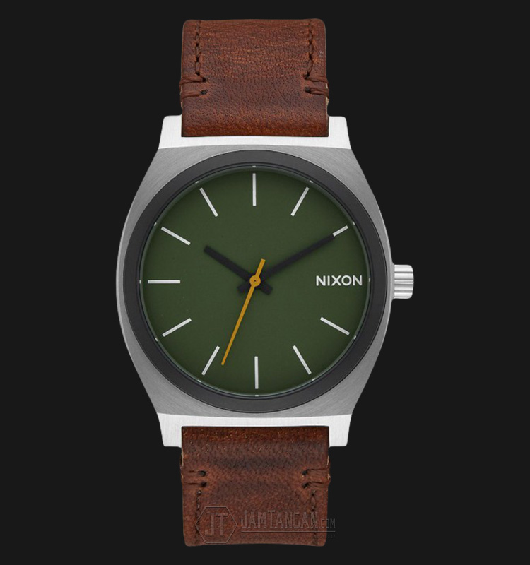 NIXON A0452334 Time Teller Green Dial Leather Strap Watch Machtwatch