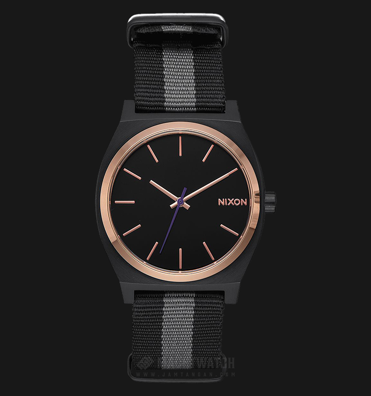 NIXON A0452453 Time Teller Men Black Dial Dual Color Nylon Strap Machtwatch