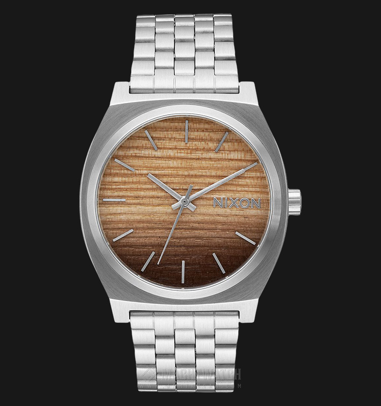 NIXON A0452457 Time Teller Wood Dial Stainless Steel Machtwatch