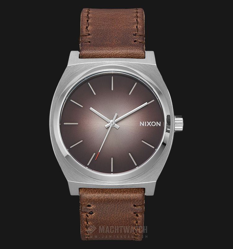 NIXON A0452594 Time Teller Bronze Dial Leather Strap Machtwatch