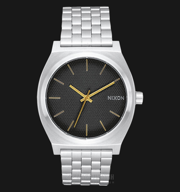 NIXON A0452730 Time Teller Black Dial Stainless Steel Machtwatch