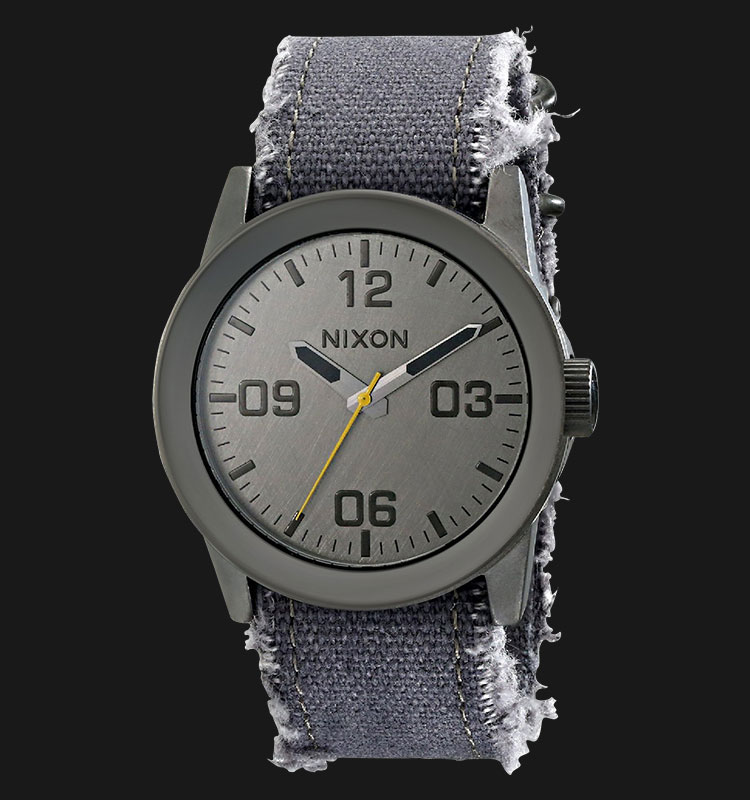 NIXON A0491894 Private Gun Metal Navy Frayed Machtwatch