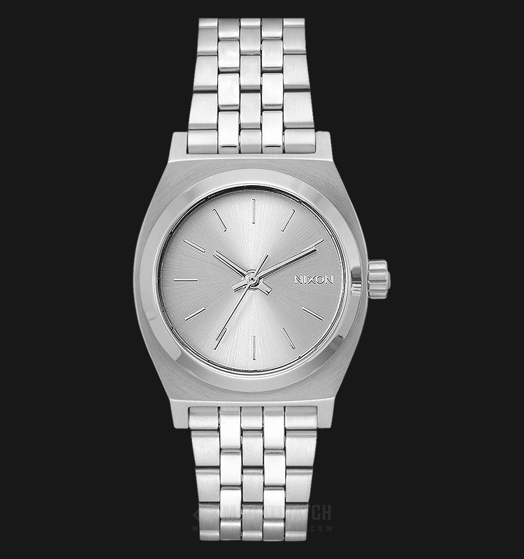 NIXON A11301920 Medium Time Teller Ladies Silver Dial Stainless Steel Strap Machtwatch