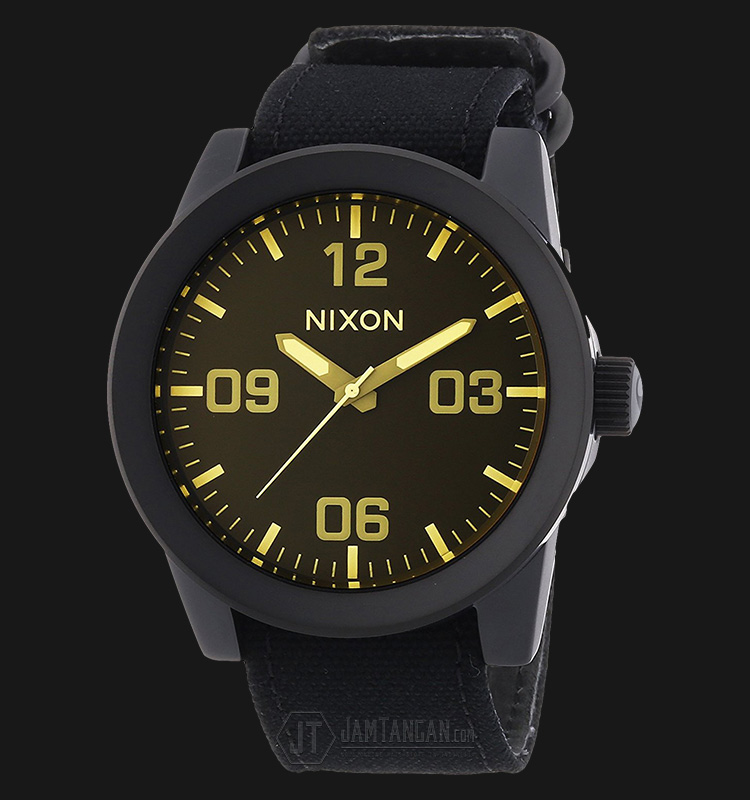 NIXON A2431354 Corporal Matte Black/Orange Tint Machtwatch