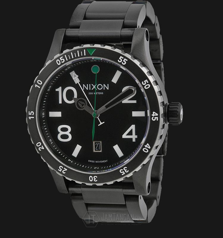 NIXON A2771421 Diplomat SS Black/Silver/Green Machtwatch
