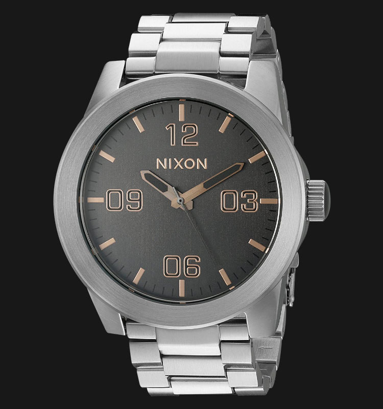 NIXON A3462064 Grey Dial Corporal Stainless Steel 48mm Machtwatch