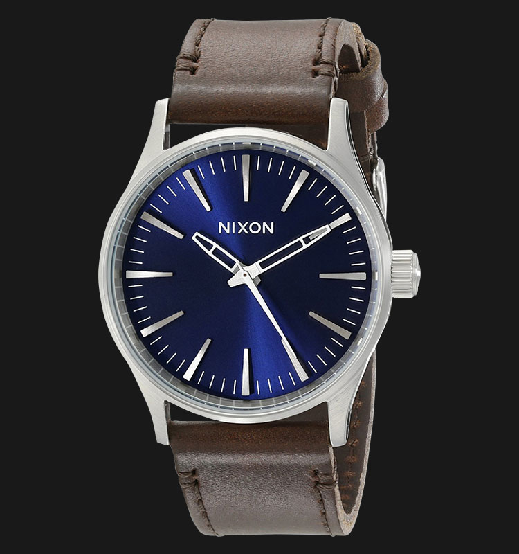 NIXON A3771524 Sentry 38 Leather Blue Brown Machtwatch