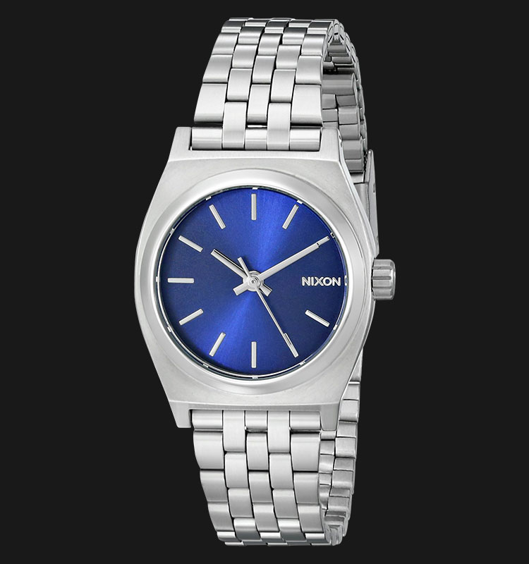 NIXON A3991933 Small Time Teller All Silver Cobalt Machtwatch