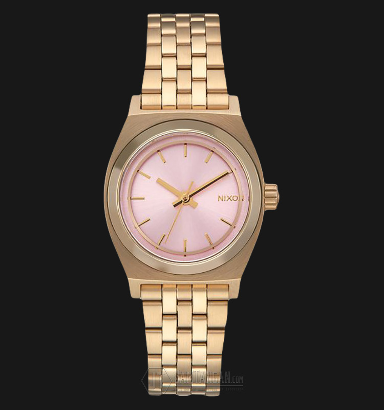 NIXON A3992360 Small Time Teller Pink Dial Rosegold Stainless Steel Machtwatch