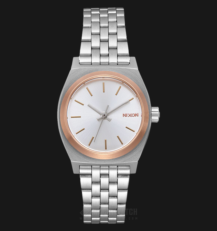 NIXON A3992632 Small Time Teller Ladies Silver Dial Stainless Steel Strap Machtwatch