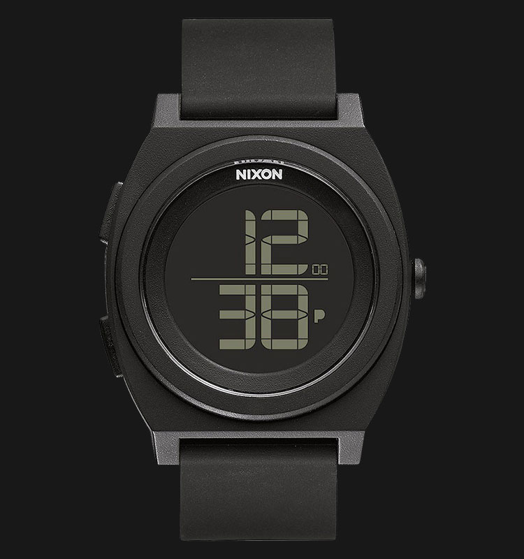 NIXON A417001 Time Teller Digi 40mm All Black Silicone Band Machtwatch