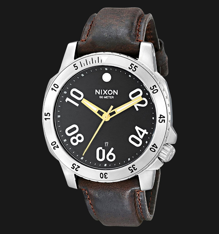 NIXON A508019 Ranger Leather Black Brown Machtwatch