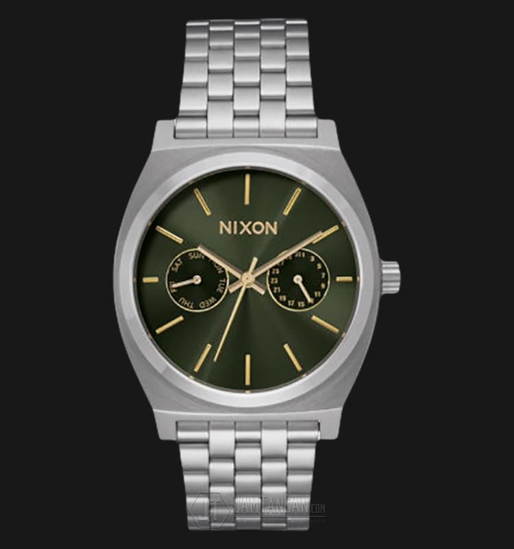 NIXON A9222210 Time Teller Green Dial Stainless Steel Watch Machtwatch