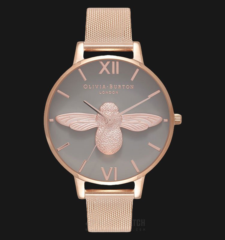 Olivia Burton OB16AM117 3D Bee Ladies Dual Tone Dial Rose Gold Stainless Steel Machtwatch
