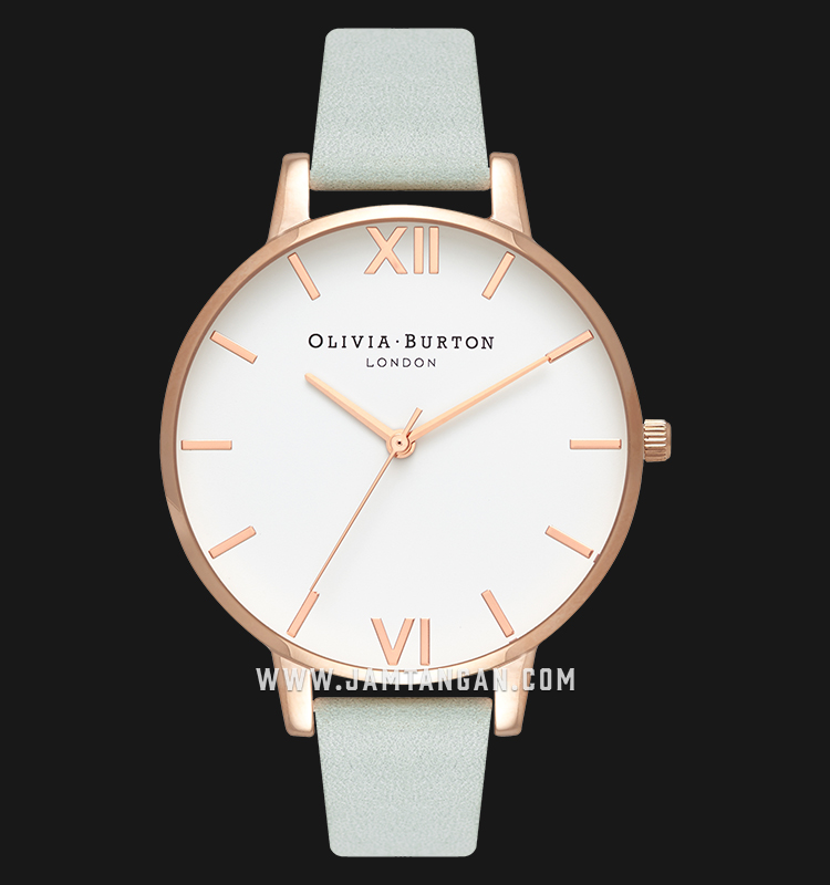 Olivia Burton OB16BDW36 White Dial Green Leather Strap Machtwatch