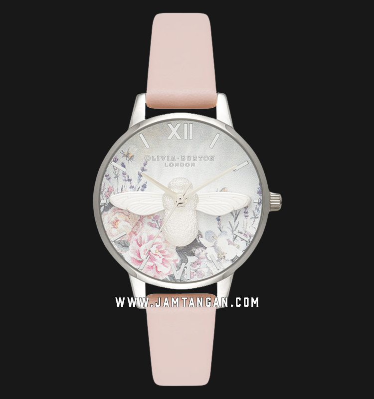 Olivia Burton OB16GH09 Glasshouse Nude Peach Ladies Multicolor Dial Light Pink Leather Strap Machtwatch