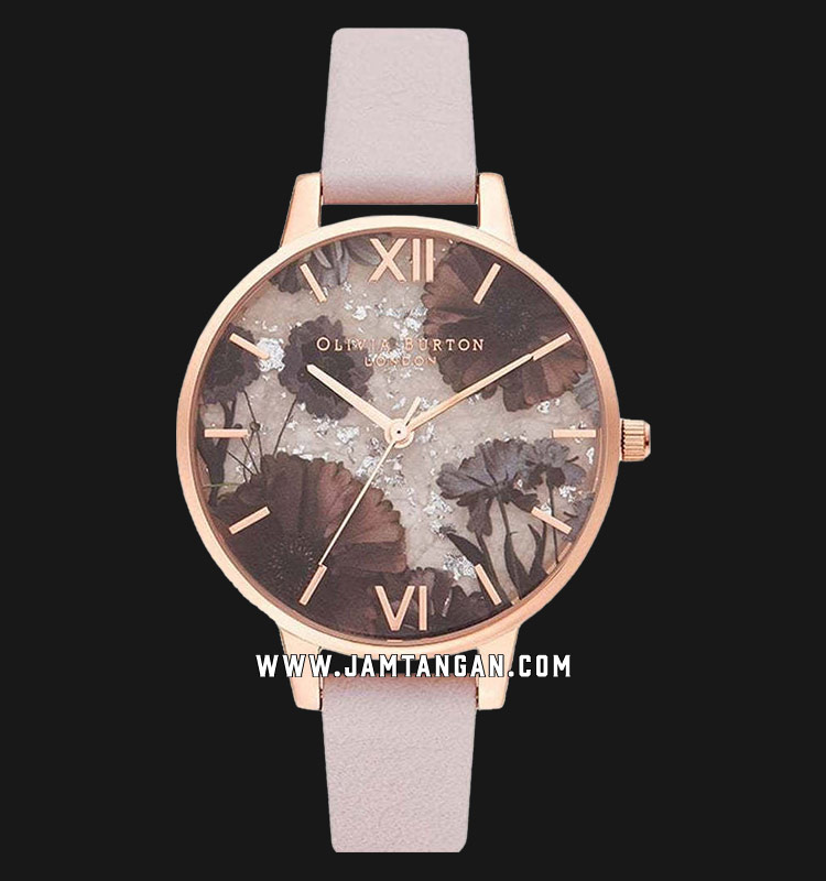 Olivia Burton Celestial OB16SP15 Multicolour Dial Pink Leather Strap Machtwatch