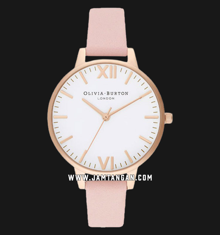 Olivia Burton Timeless OB16TL14 White Dial Dusty Pink Leather Strap Machtwatch