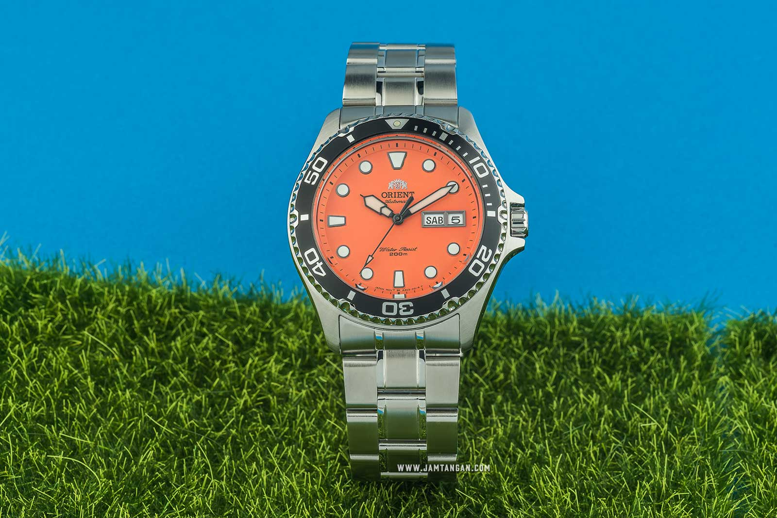 Orient FAA02006M Orange Mako II Automatic Divers Orange Dial Stainless Steel Machtwatch