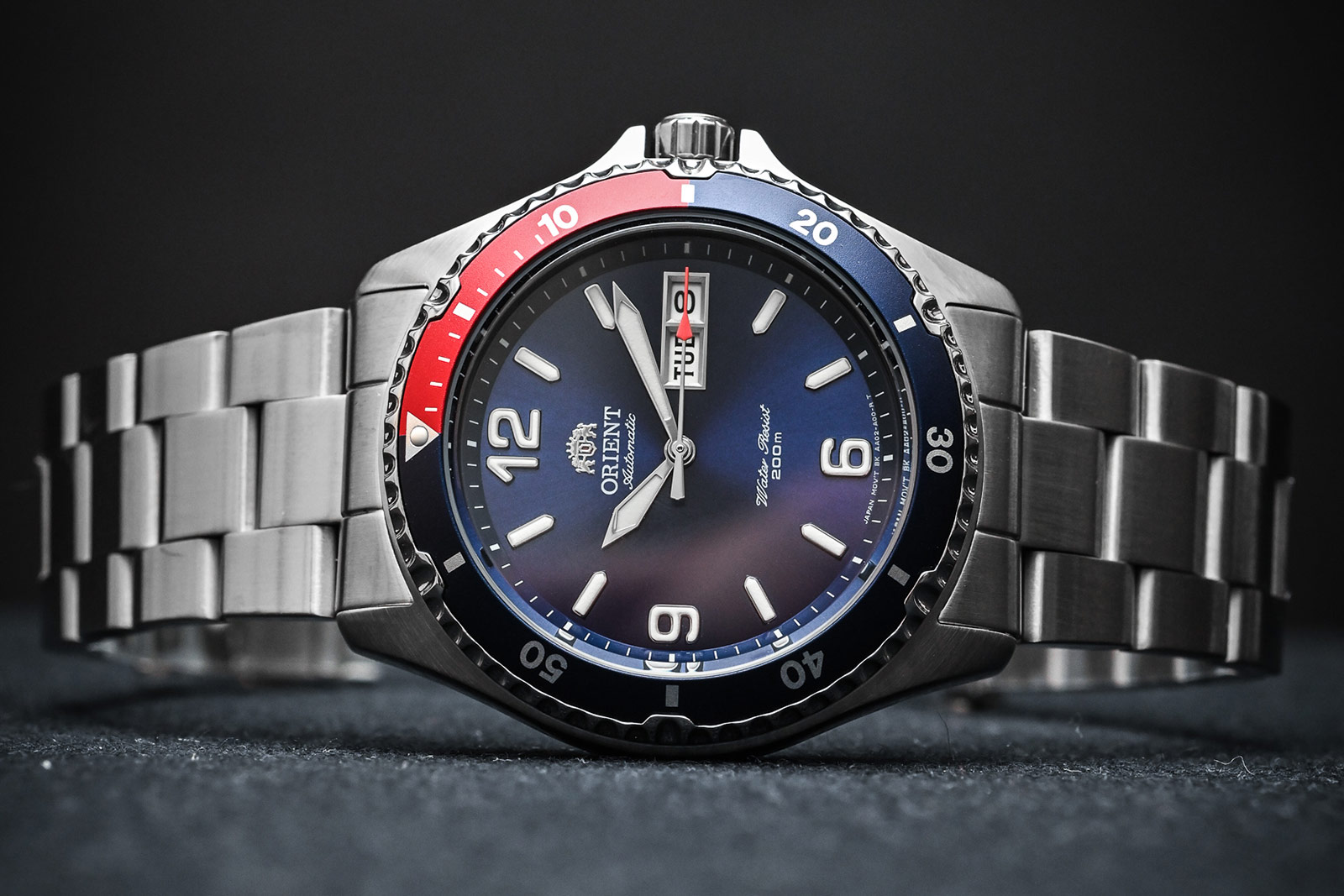 Orient FAA02009D MAKO Pepsi II Automatic Blue dial Stainless Steel Machtwatch