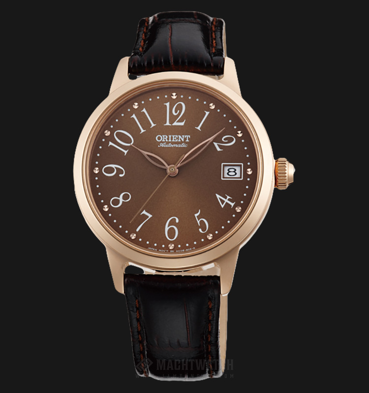 Orient Classic Automatic FAC06001T Ladies Brown Dial Black Leather Strap Machtwatch