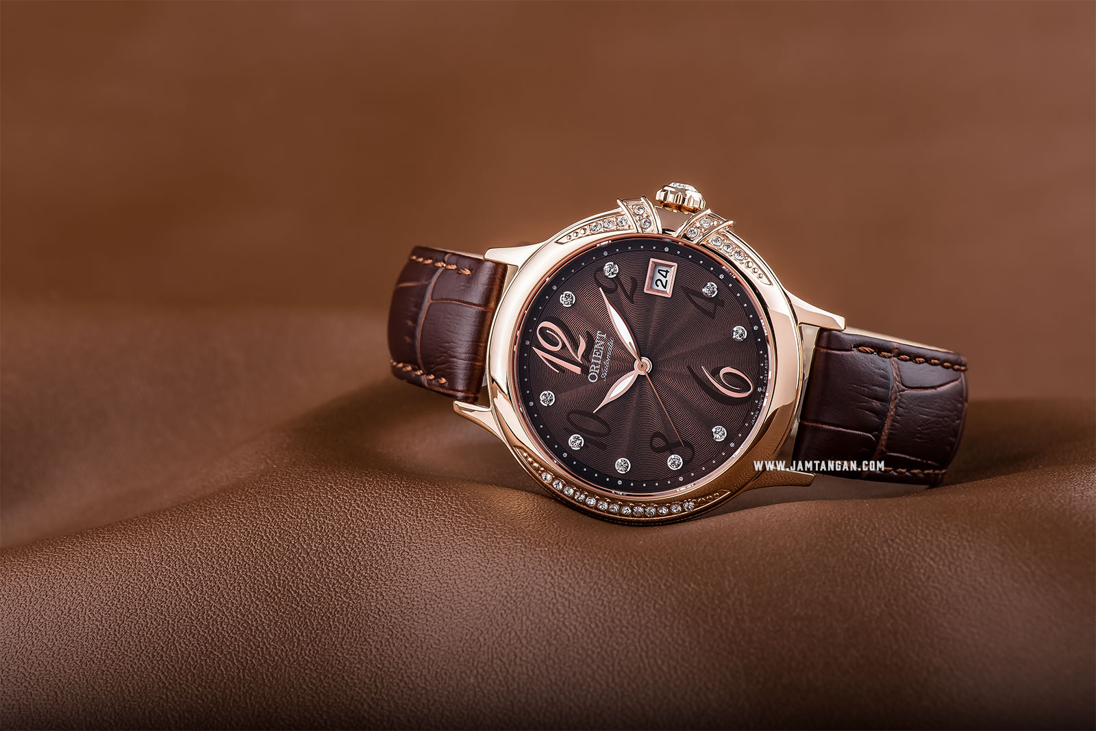 Orient FAC07001T Elegance Automatic Ladies Brown Dial Brown Leather Strap Machtwatch