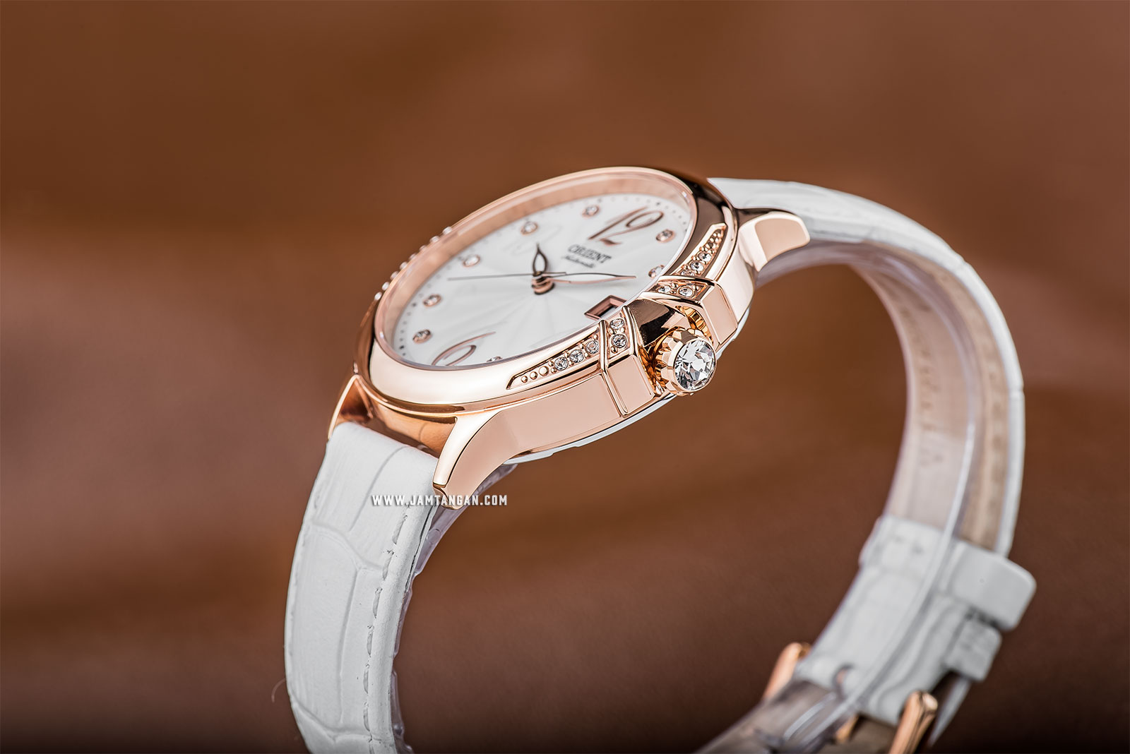 Orient FAC07002W Fashionable Automatic Elegance Ladies White Dial White Leather Strap Machtwatch