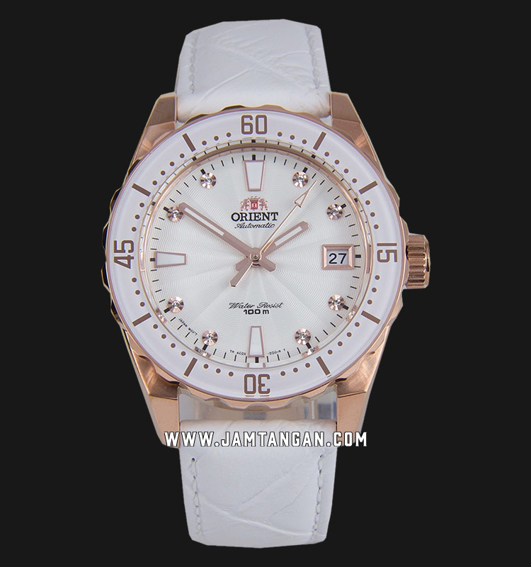 Orient FAC0A003W Ladies White Dial White Leather Strap Machtwatch