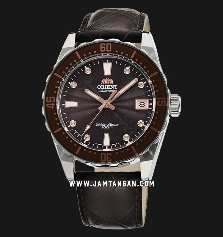 Orient FAC0A005T Ladies Brown Dial Brown Leather Strap Machtwatch