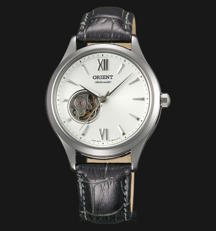 Orient FDB0A005W Oriental Table Elegant Series Small Hollow Skeleton Dial Leather Strap Machtwatch