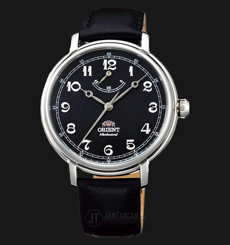 Orient FDD03002B Monarch Silver Black Dial Black Leather Strap Machtwatch
