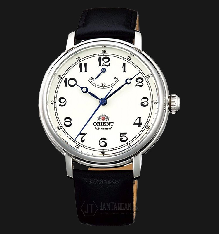 Orient FDD03003Y Monarch Silver White Dial Black Leather Strap Machtwatch