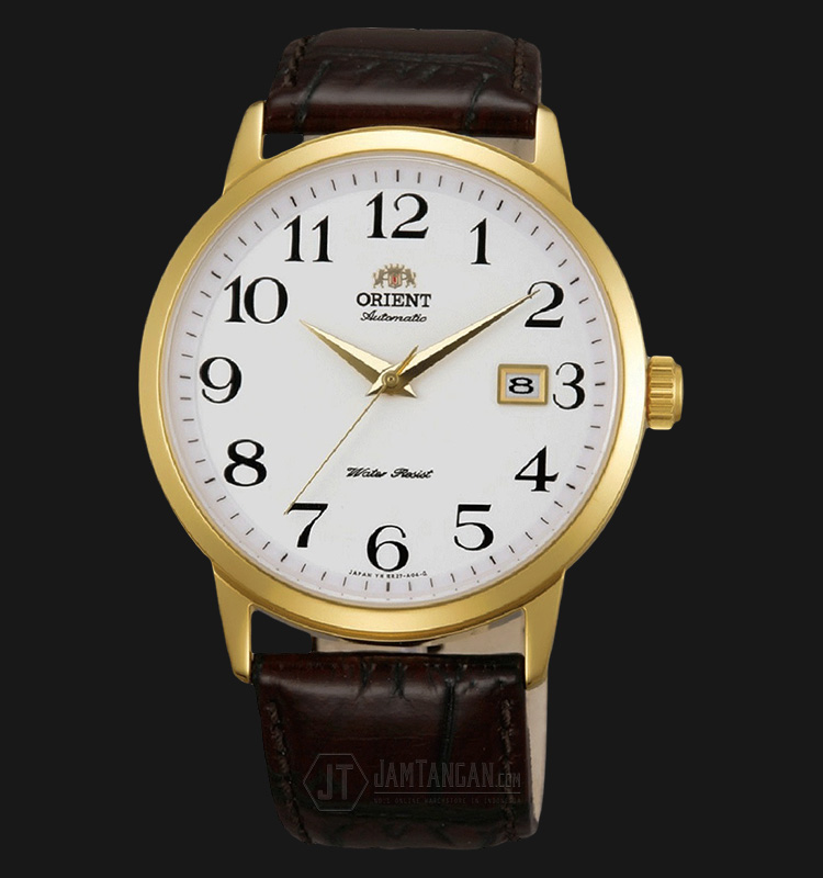 Orient FER27005W Symphony Classic Automatic White Dial Brown Leather Strap Machtwatch