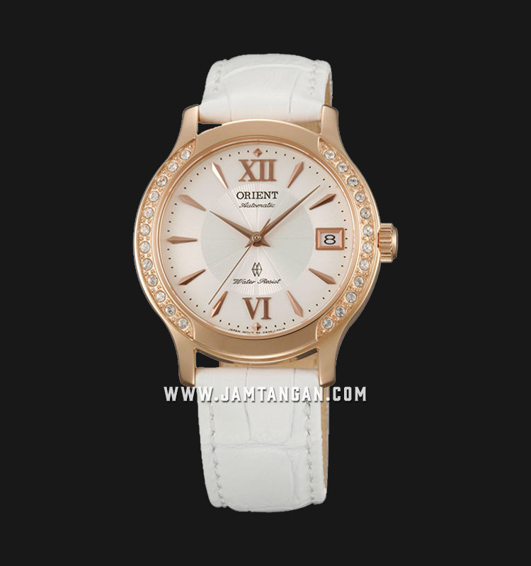 Orient FER2E002W Automatic White dial White Leather Strap Machtwatch