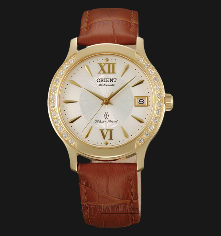 Orient FER2E003W Automatic White dial Brown Leather Strap Machtwatch