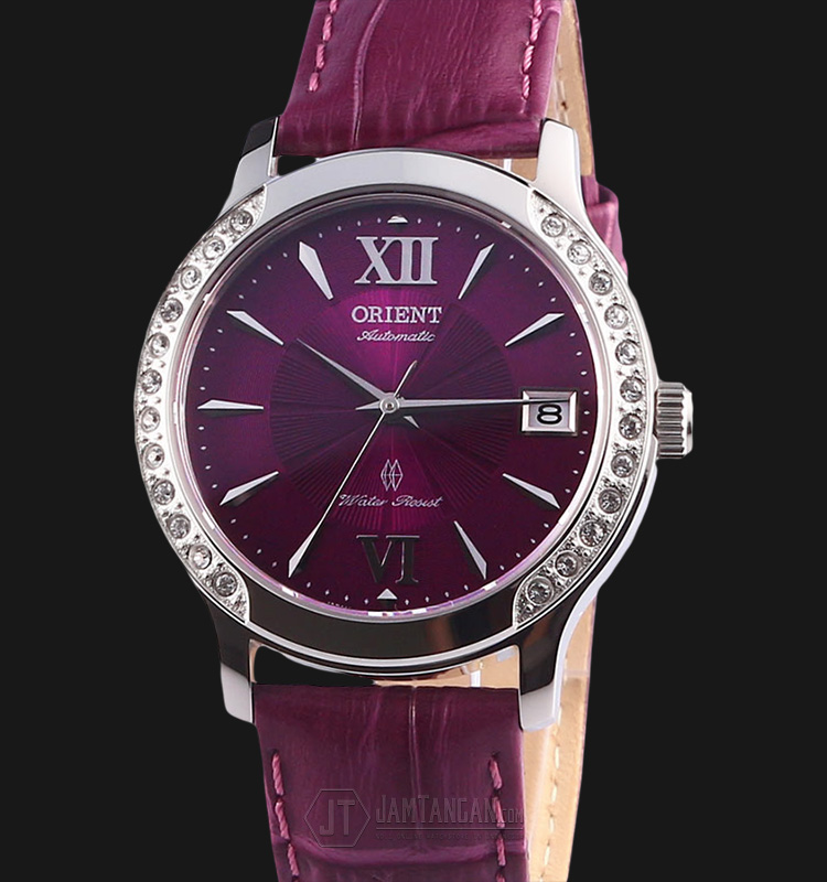 Orient FER2E005V Automatic Violet dial Purple Leather Strap Machtwatch