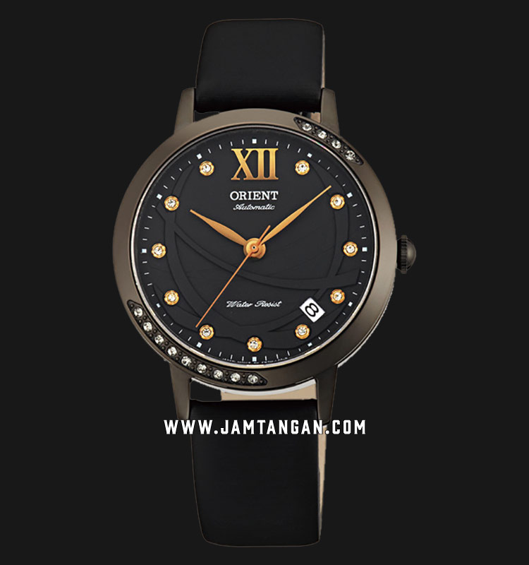 Orient FER2H001B Automatic Black dial Black Leather Strap Machtwatch
