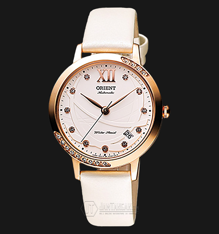 Orient FER2H003W Automatic White dial White Leather Strap Machtwatch